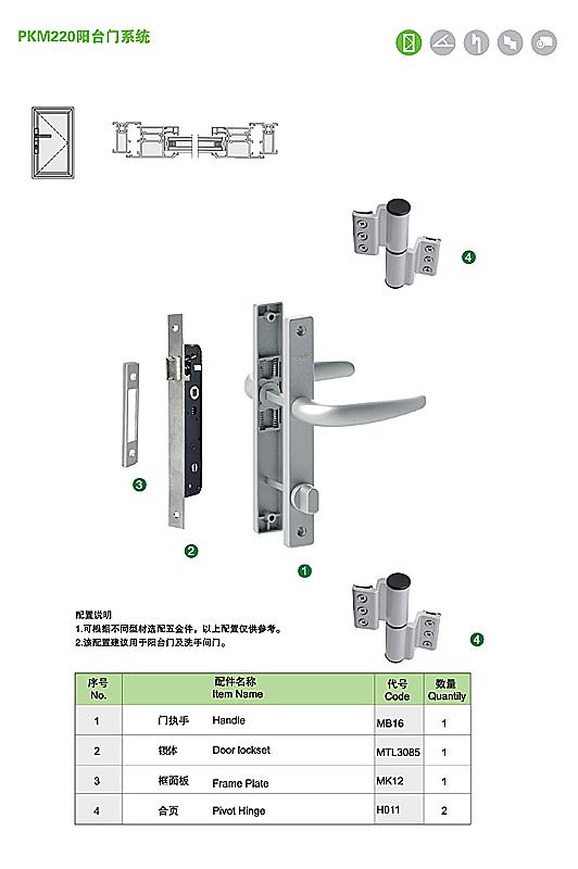 PKM220 阳台门系统